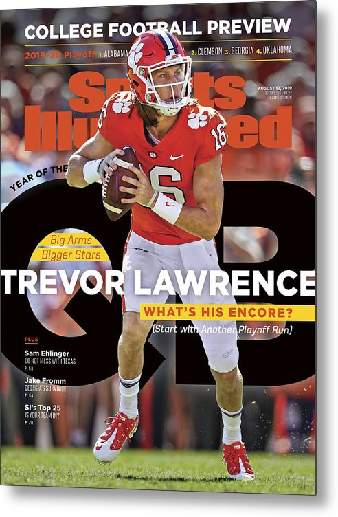 Metal Print featuring the photograph Year Of The Qb Clemson University Trevor Lawrence, 2019 Sports Illustrated Cover by Sports Illustrated