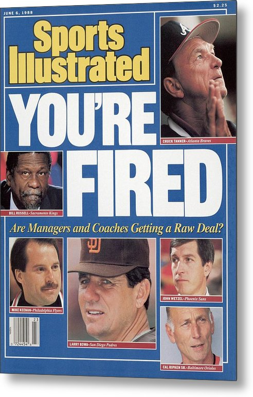 1980-1989 Metal Print featuring the photograph Youre Fired Are Managers And Coaches Getting A Raw Deal Sports Illustrated Cover by Sports Illustrated