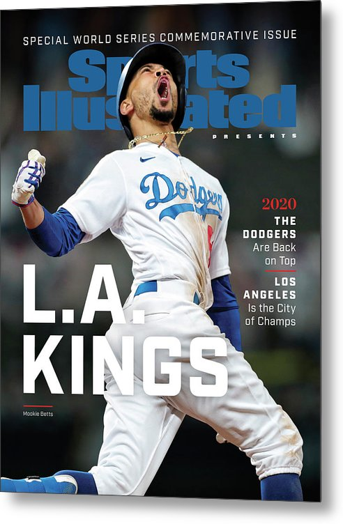 Mlb Metal Print featuring the photograph Los Angeles Dodgers Special World Series Commemorative Sports Illustrated Cover by Sports Illustrated