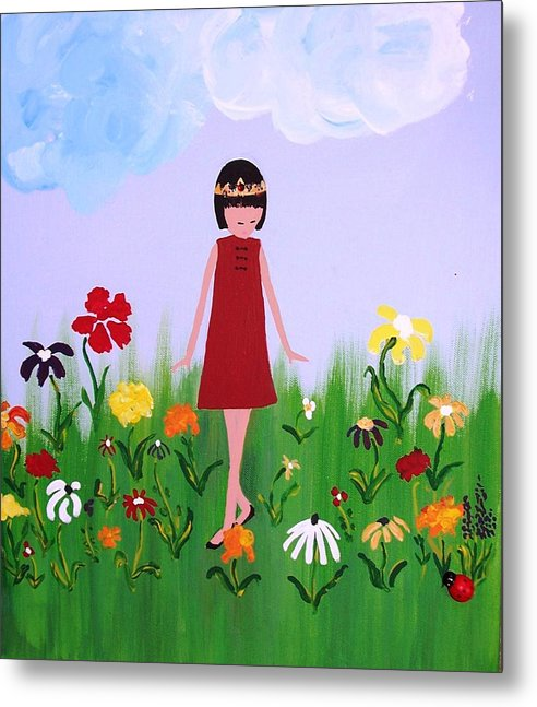 Princess Metal Print featuring the painting Princess Lee by Sandi Stonebraker