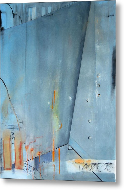 Abstract Metal Print featuring the painting Condoland Entrance by Charline Gardhouse