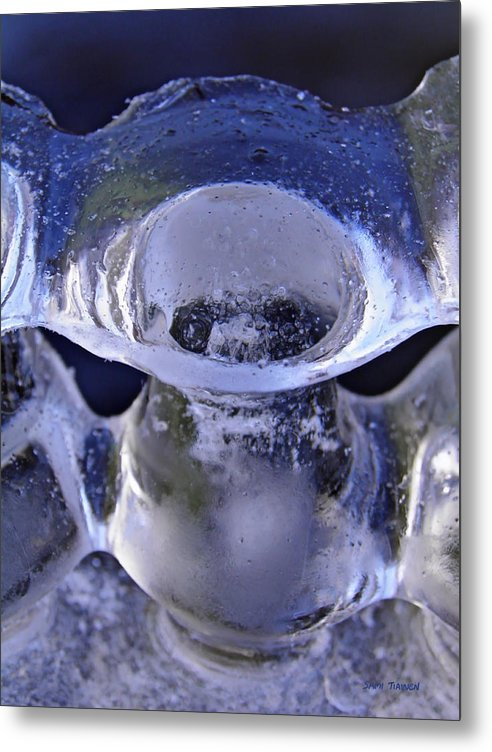 Vase Metal Print featuring the photograph Ice Bowls by Sami Tiainen