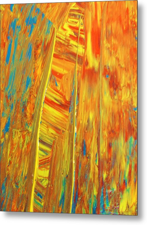 Original Metal Print featuring the painting Welcome To Heavens Gate by Artist Ai