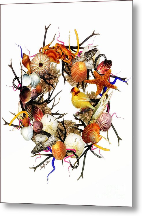 Shells Metal Print featuring the painting Welcome To My Nest by Carolyn Staut
