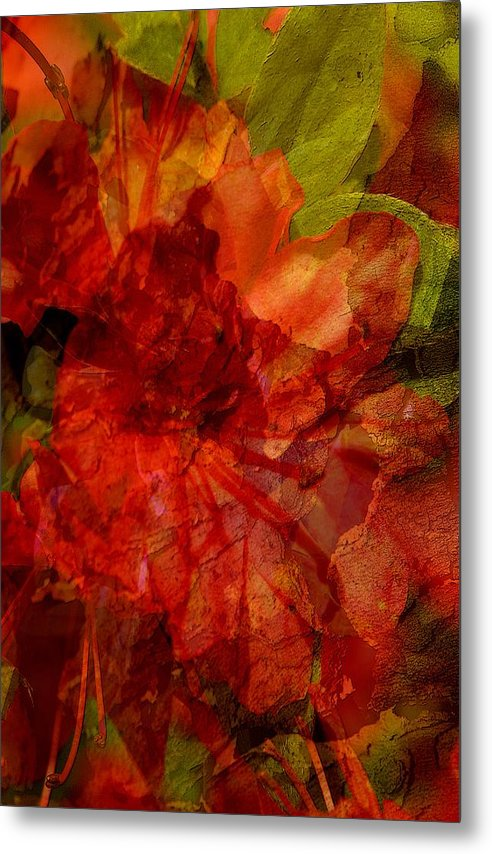 Abstract Metal Print featuring the digital art Blood Rose by Tom Romeo