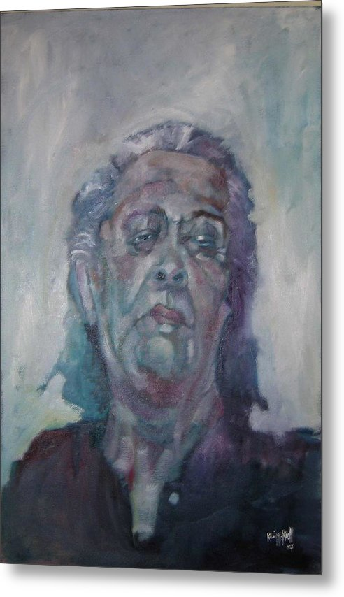 Portrait Figure Metal Print featuring the painting Old Mary by Kevin McKrell