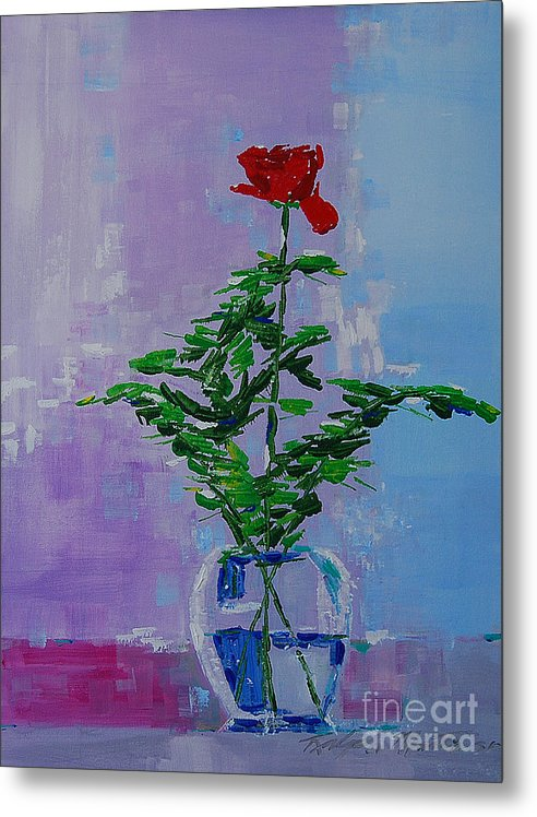 Flowers Metal Print featuring the painting The Gift by Art Mantia