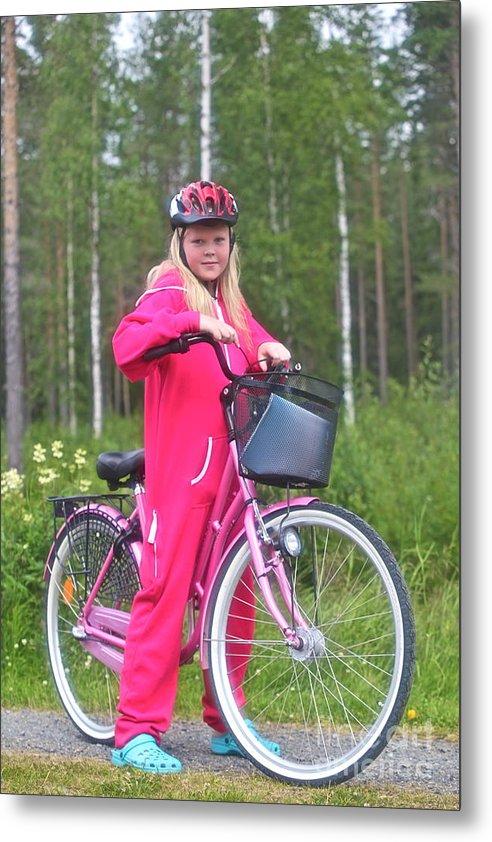 Portrait Photos Metal Print featuring the photograph Nine Million Bicycles - Sweden. by Andrzej Goszcz