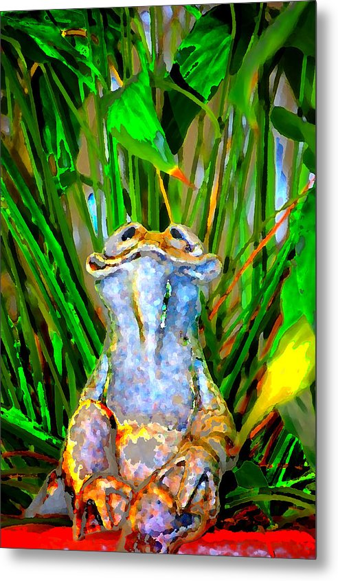 Metal Print featuring the digital art Funny Frog by Danielle Stephenson