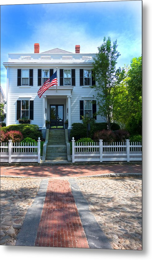 Natucket Metal Print featuring the photograph Nantucket Architecture Series 06 by Carlos Diaz