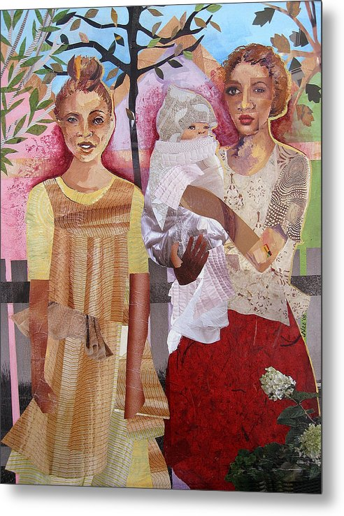 Family Metal Print featuring the mixed media Maude And Baby Bette by Candace Hunter