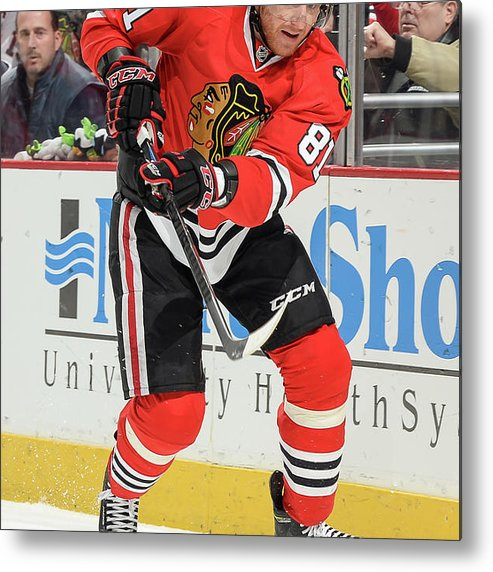 Marian Hossa Metal Print featuring the photograph Dallas Stars V Chicago Blackhawks by Bill Smith