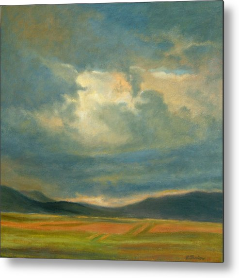 Southwest Metal Print featuring the painting Emergence by Phyllis Tarlow