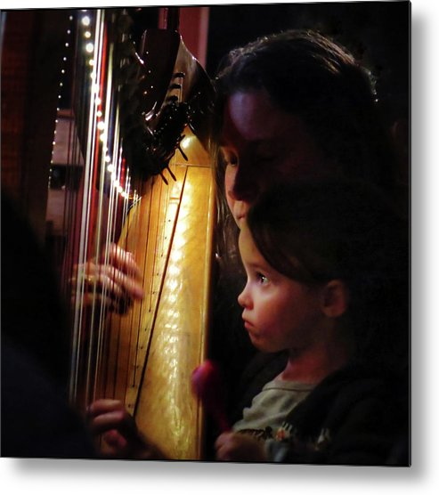 Irish Harp Kathleen Protege Metal Print featuring the photograph Protege by Scott Waters