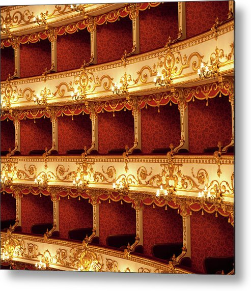 Event Metal Print featuring the photograph Boxes Of Italian Antique Theater by Naphtalina
