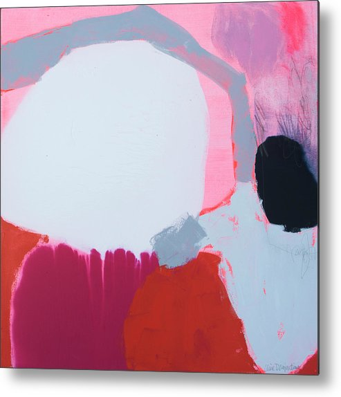Abstract Metal Print featuring the painting Pussycats in Pussy Hats by Claire Desjardins