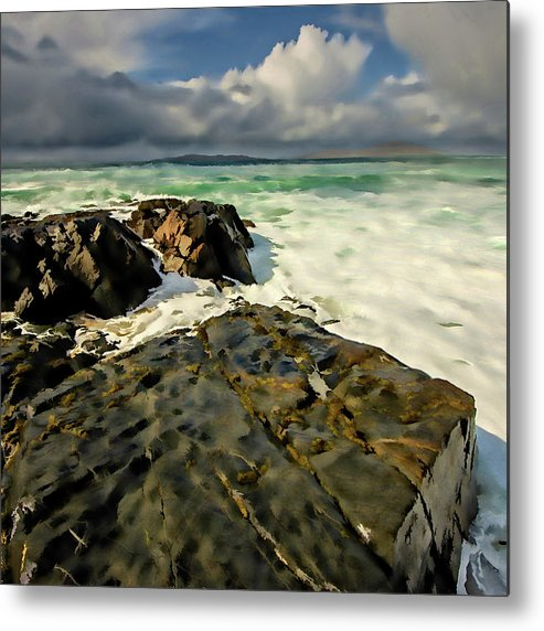Scarista Beach Metal Print featuring the mixed media Scarista Digital Painting by Smart Aviation