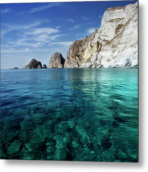 Scenics Metal Print featuring the photograph Typical Mediterranean Sea In Italy by Piola666