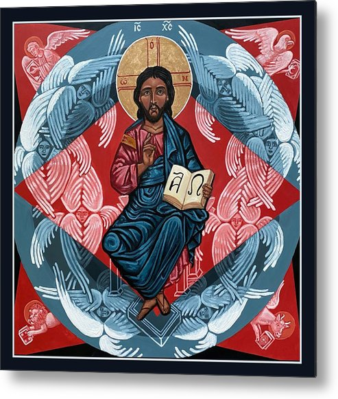Metal Print featuring the painting Christ Enthroned by Kelly Latimore