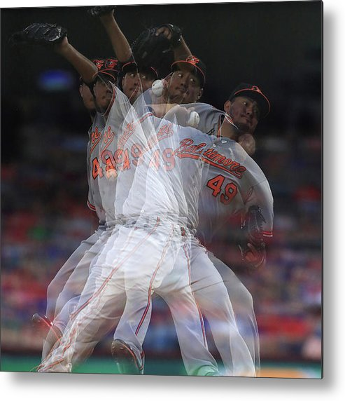 People Metal Print featuring the photograph Yovani Gallardo by Ronald Martinez