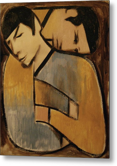 Spock Metal Print featuring the painting Captain Kirk Spock Cubism Art Print by Tommervik