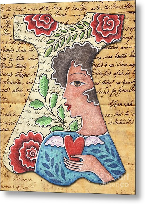 Red Flowers Metal Print featuring the digital art I'm wearing my heart by Elaine Jackson