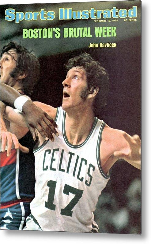 Magazine Cover Metal Print featuring the photograph Boston Celtics John Havlicek Sports Illustrated Cover by Sports Illustrated