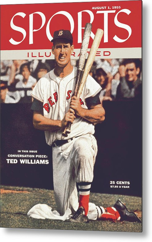 Magazine Cover Metal Print featuring the photograph Boston Red Sox Ted Williams... Sports Illustrated Cover by Sports Illustrated