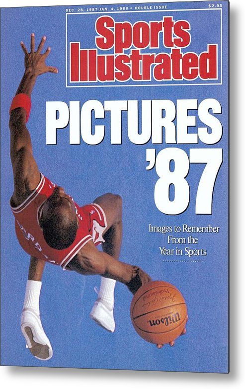 Magazine Cover Metal Print featuring the photograph Chicago Bulls Michael Jordan Sports Illustrated Cover by Sports Illustrated