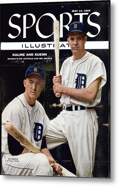 Magazine Cover Metal Print featuring the photograph Detroit Tigers Al Kaline And Harvey Kuenn Sports Illustrated Cover by Sports Illustrated