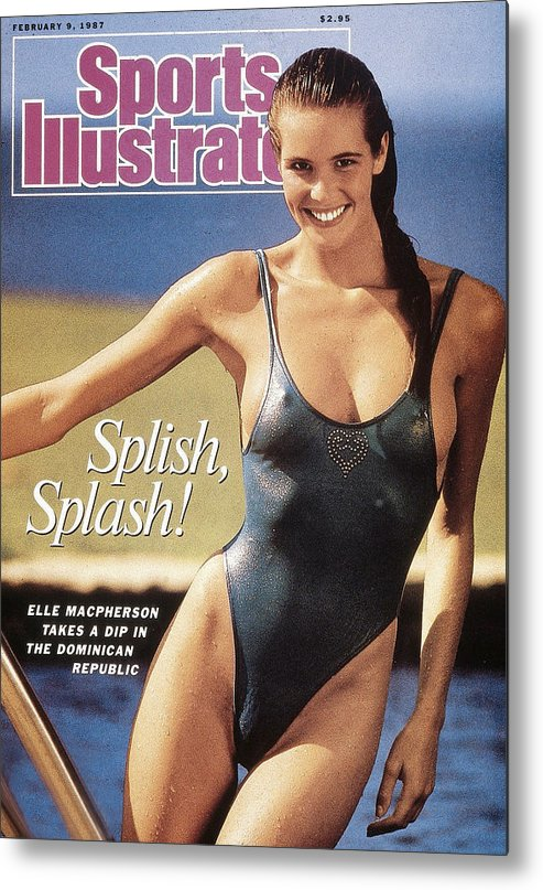 1980-1989 Metal Print featuring the photograph Elle Macpherson Swimsuit 1987 Sports Illustrated Cover by Sports Illustrated