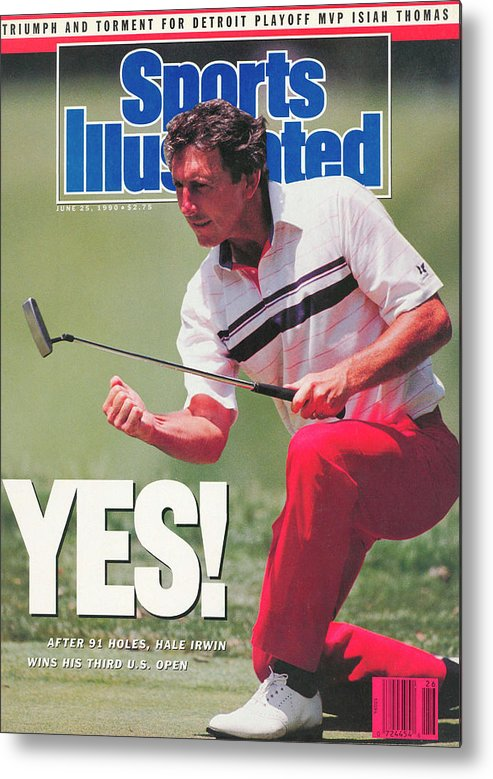 Magazine Cover Metal Print featuring the photograph Hale Irwin, 1990 Us Open Sports Illustrated Cover by Sports Illustrated