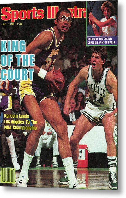 Playoffs Metal Print featuring the photograph King Of The Court Kareem Leads Los Angeles To The Nba Sports Illustrated Cover by Sports Illustrated