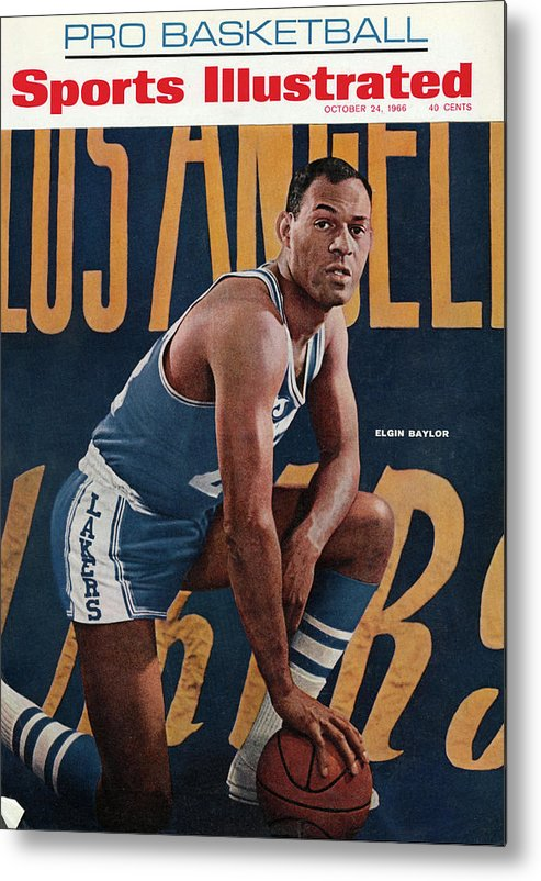 Magazine Cover Metal Print featuring the photograph Los Angeles Lakers Elgin Baylor Sports Illustrated Cover by Sports Illustrated