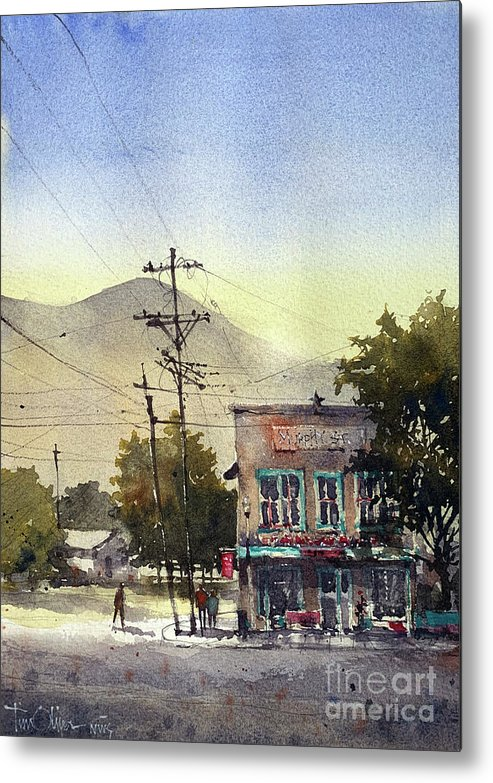 Murphy Street Mercado Metal Print featuring the painting Murphy Street Mercado Alpine Tx by Tim Oliver