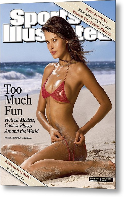 Social Issues Metal Print featuring the photograph Petra Nemcova Swimsuit Issue 2003 Sports Illustrated Cover by Sports Illustrated