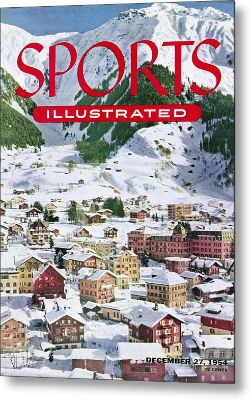 Magazine Cover Metal Print featuring the photograph Skiing At The Parsenn Sports Illustrated Cover by Sports Illustrated