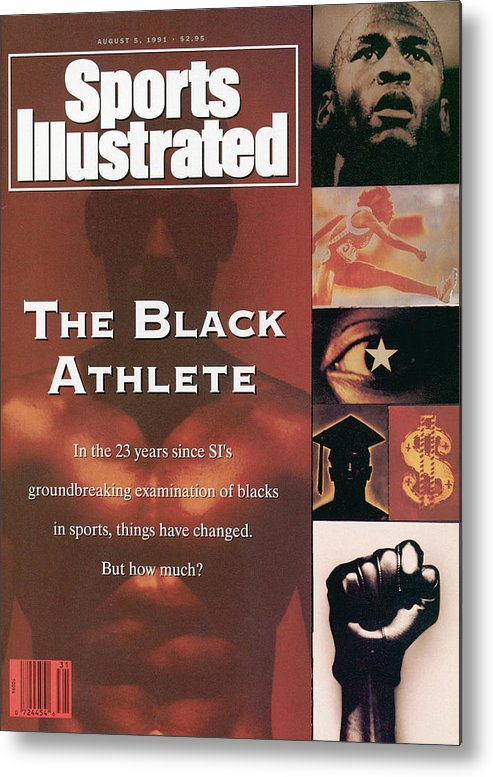 The Olympic Games Metal Print featuring the photograph The Black Athlete In The 23 Years Since Sis Groundbreaking Sports Illustrated Cover by Sports Illustrated