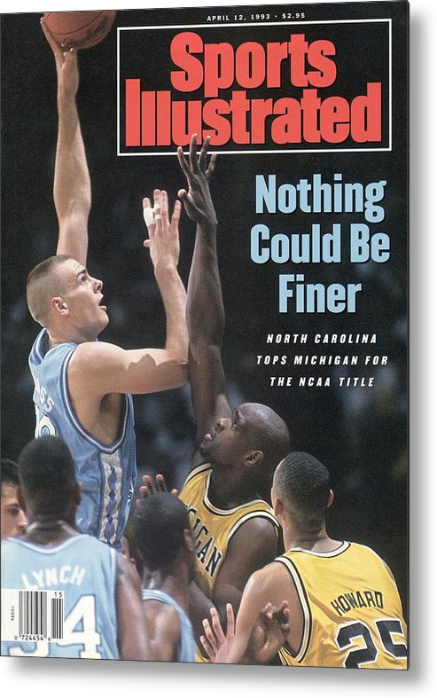 Louisiana Superdome Metal Print featuring the photograph University Of North Carolina Eric Montross, 1993 Ncaa Sports Illustrated Cover by Sports Illustrated