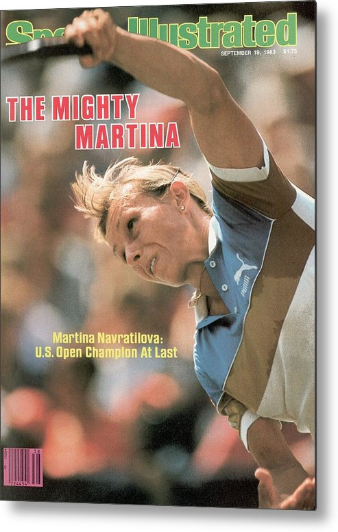 1980-1989 Metal Print featuring the photograph Usa Martina Navratilova, 1983 Us Open Sports Illustrated Cover by Sports Illustrated