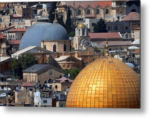 Old City Metal Print featuring the photograph 019 Jerusalem by Alex Kolomoisky