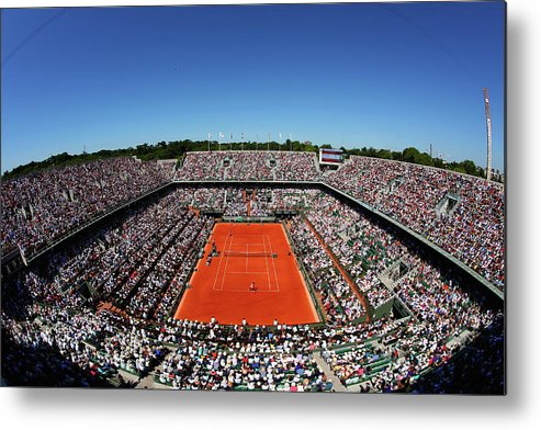 Tennis Metal Print featuring the photograph 2015 French Open - Day Fourteen by Clive Brunskill