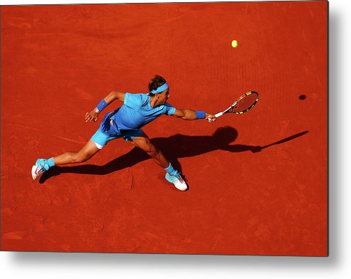 Rafael Nadal Metal Print featuring the photograph 2015 French Open - Day Nine by Julian Finney