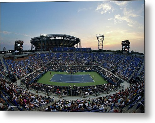 Tennis Metal Print featuring the photograph 2015 U.s. Open - Day 1 by Streeter Lecka