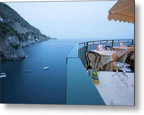 Tyrrhenian Sea Metal Print featuring the photograph Amalfi Coast In Campania, Italy by Davidcallan