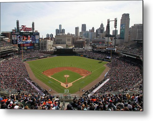 American League Baseball Metal Print featuring the photograph Baltimore Orioles V. Detroit Tigers by John Grieshop