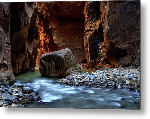 Scenics Metal Print featuring the photograph Canyon by Piriya Photography