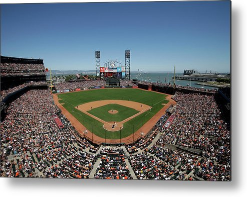 San Francisco Metal Print featuring the photograph Chicago Cubs V San Francisco Giants by Ezra Shaw