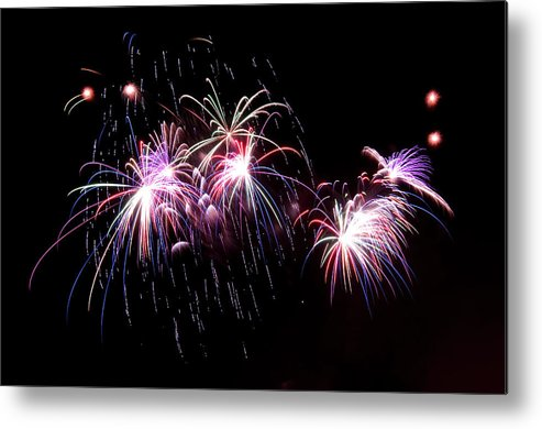 Firework Display Metal Print featuring the photograph Chicago Fireworks by 400tmax