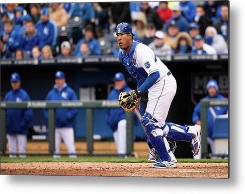 Salvador Perez Diaz Metal Print featuring the photograph Chicago White Sox V. Kansas City Royals by John Williamson